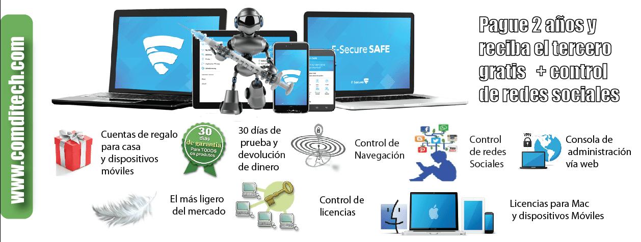 Fsecure antivirus gratis y control de redes sociales